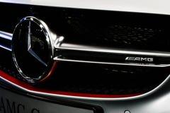 Mercedes Benz Sign Close-Up Foto de archivo libre de regalías