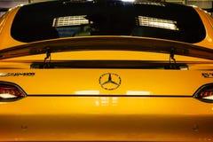 Mercedes Benz Sign Close-Up Imágenes de archivo libres de regalías