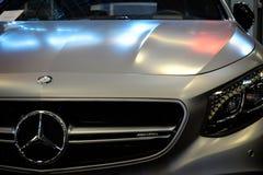 Mercedes Benz Sign Close-Up Fotografía de archivo libre de regalías