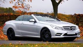 Mercedes Benz Silver Coupe Convertible Stock Image