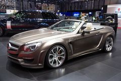 Mercedes-Benz SL 63 AMG R231 Bayard FAB Design. GENEVA, SWITZERLAND - MARCH 3, 2015: Mercedes-Benz SL 63 AMG R231 Bayard from FAB Design at the 85th Royalty Free Stock Photo