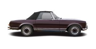 Mercedes Benz 280 SL cabrio. Isolated on white stock photography