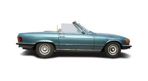 Mercedes Benz 280 SL cabrio. Isolated on white stock images