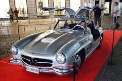 Mercedes Benz 300 SL coupè W198, på 1000 mil springer Royaltyfri Bild