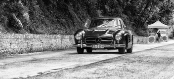MERCEDES-BENZ 300 SL COUPÃ ‰ W 198 1955 Royalty-vrije Stock Fotografie