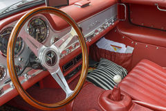 Mercedes-Benz SL 300 Gullwing, inre Royaltyfri Foto