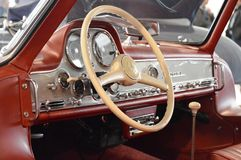 Mercedes Benz 300 SL Gullwing 1954, at retro car exposition in Padua, Italy oct 25 2015 Royalty Free Stock Photo