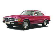 Mercedes Benz 350SL Royalty Free Stock Photography