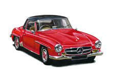 Mercedes Benz 190SL Royalty Free Stock Images