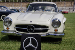 Mercedes-Benz 300SL. The Mercedes-Benz 300SL introduced in 1954 as a two-seat coup Royalty Free Stock Image