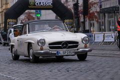Mercedes-Benz 190 SL oldtimerbil Arkivbild