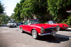 Mercedes Benz SL Pagode on Vintage Car Parade Royalty Free Stock Photo