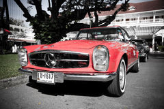 Mercedes Benz SL Pagode on Vintage Car Parade Stock Images