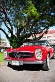 Mercedes Benz SL Pagode on Vintage Car Parade Royalty Free Stock Photography