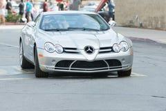 Mercedes-Benz SL R230 Evo II car on display Royalty Free Stock Image