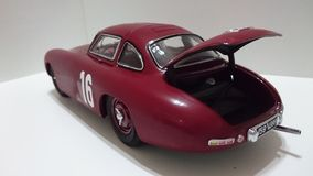 Mercedes Benz 300SL racing legend model car. Race chassis from the german car producer being displayed in a diecast collection Stock Photography