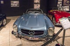 Mercedes-Benz 300SL Roadster 1957 at the exhibition in the King Abdullah II car museum in Amman, the capital of Jordan. Amman, Jordan, December 07, 2018 stock image