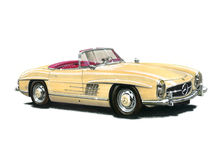 Mercedes Benz 300SL Roadster Stock Images