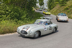Mercedes-Benz 300 SL W 194 (1952) in Mille Miglia 2014 Royalty-vrije Stock Fotografie