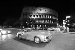 MERCEDES-BENZ 300 SL W, 1955, in Rome Stock Foto