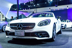 Mercedes Benz SLC 43 bij de Internationale Motor Expo 2016 van Thailand Stock Afbeeldingen