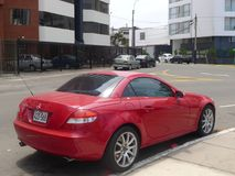 Mercedes-Benz SLK 350 coupe parked in Lima Royalty Free Stock Photo