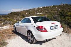 Mercedes-Benz SLK 200 pre-facelift bil Arkivbild
