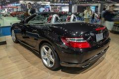 Mercedes-Benz SLK 200 showed in Thailand the 37th Bangkok Intern Royalty Free Stock Photo