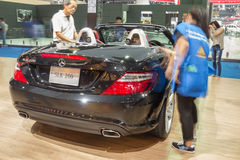 Mercedes-Benz SLK 200 showed in Thailand the 37th Bangkok Intern Royalty Free Stock Images