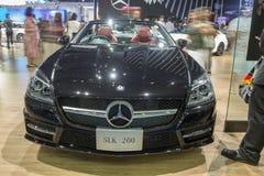 Mercedes-Benz SLK 200 som visas i Thailand den 37th Bangkok allmäntjänstgörande läkaren Royaltyfri Bild