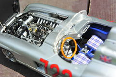 Mercedes-Benz 300 SLR Mille Miglia winner Sir Stirling Moss - engine Stock Photo