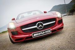 Mercedes-Benz SLS AMG 2012 Photos libres de droits