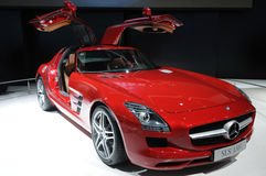 A Mercedes-Benz SLS AMG car Royalty Free Stock Image