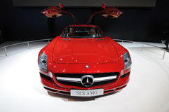 A Mercedes-Benz SLS AMG car Royalty Free Stock Photos