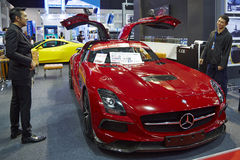 Mercedes-Benz SLS AMG  car on display at The 36 th Bangkok Inter Royalty Free Stock Image
