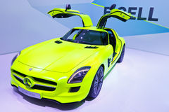 Mercedes-Benz SLS AMG E-CELL Stock Photo