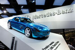 Mercedes-Benz SLS AMG Full Electric Supercar Royalty Free Stock Photography