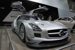 Mercedes benz SLS AMG GT3 Royalty Free Stock Images