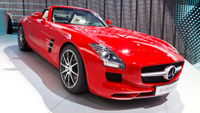 Mercedes-Benz SLS AMG Roadster. FRANKFURT - SEP 24: Mercedes-Benz SLS AMG Roadster shown at the 64th IAA Motor Show (Internationale Automobil-Ausstellung) in Royalty Free Stock Photos