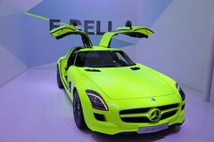 Mercedes Benz SLS E-Cell Royalty Free Stock Images