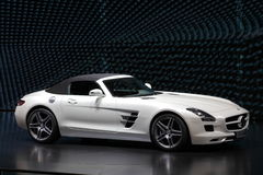 Mercedes Benz SLS Sportscar. FRANKFURT - SEPT 24: Mercedes Benz SLS Sportscar at the 64th IAA (Internationale Automobil Ausstellung) on September 24, 2011 in Stock Photography