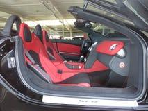 Mercedes Benz SLS. Vehicle interior stock photography