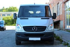 Mercedes-Benz Sprinter 316 CDI 2012 silver Stock Photo