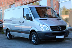 Mercedes-Benz Sprinter 316 CDI 2012 silver Royalty Free Stock Photos