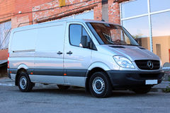 Mercedes-Benz Sprinter 316 CDI 2012 silver. Mercedes-Benz Sprinter 316 CDI 2010-2012 silver Stock Photography