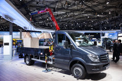 Mercedes Benz Sprinter 516 CDI. At the 65th IAA Commercial Vehicles 2014 in Hannover, Germany Royalty Free Stock Image