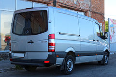 Mercedes-Benz Sprinter 316 CDI 2012 zilver royalty-vrije stock foto