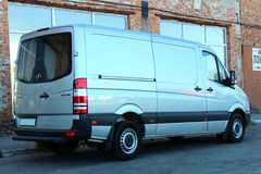 Mercedes-Benz Sprinter 316 CDI 2012 zilver royalty-vrije stock foto's