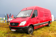 Mercedes-Benz Sprinter. NOVYY URENGOY, RUSSIA - JUNE 25, 2016: Cargo van Mercedes-Benz Sprinter at the countryside Stock Photography