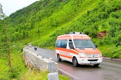 Mercedes-Benz Sprinter. TYROL, AUSTRIA - JULY 29, 2014: German fire truck Mercedes-Benz Sprinter at the Grossglockner High Alpine Road Stock Photos